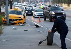 Kağıthanede zincirleme trafik kazası: 2 yaralı