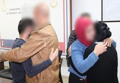 İkna yöntemiyle teslim olan PKKlı çift, aileleriyle buluşturuldu