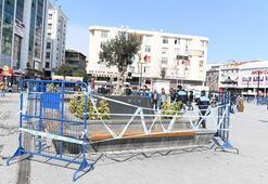 Son dakika haberi: Bankların çevresi demir bariyerler ile çevrildi