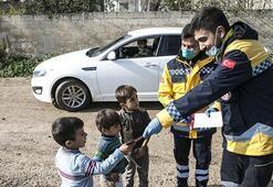 Türkiye'den Suriye'nin kuzeyinde corona virüse karşı bilgilendirme çalışması