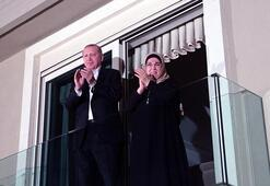 Cumhurbaşkanı Erdoğandan sağlık çalışanlarına alkışlı destek