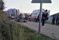 Motosiklet, beton elektrik direğine çarptı: 1 ölü, 1 yaralı