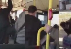Öksüren yolcuyu döverek otobüsten attılar
