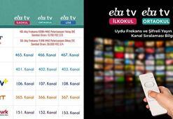 EBA uzaktan eğitim ders proragmı... EBA TV internet ders yayını izle...