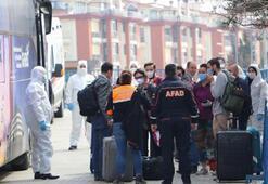 Yurt dışından gelenler, Tekirdağdaki yurtlara yerleştiriliyor