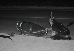 Aydında devrilen motosikletin sürücüsü öldü