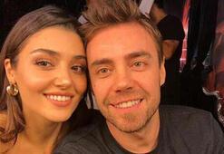 Hande Erçel ve Murat Dalkılıçtan ev konseri