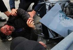 Alanyada feci kaza Baba öldü, oğlu yaralandı