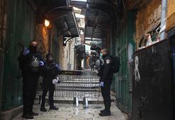 İsrail polisi, Kudüste dezenfeksiyon yapan 4 Filistinliyi gözaltına  aldı