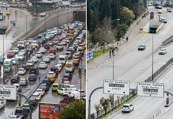 Bir ay arayla çekildi Corona trafiği bitirdi