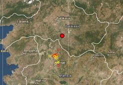 Son dakika Balıkesirde deprem Depremin büyüklüğü...