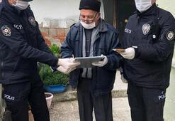 Burhaniye'de 65 yaş üstü vatandaşların ihtiyacını polis karşılıyor