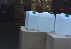 İstanbulda kaçak dezenfektan imalathanesine baskın