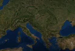 Uzaydan corona virüs Avrupayı sarsan görüntü...