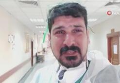 Son dakika: Corona virüsle mücadele eden doktor ağlayarak çağrı yaptı: Evde kalın