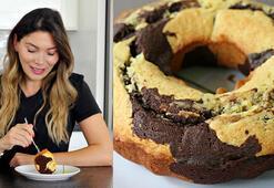 Mermer kek nasıl yapılır Portakallı mermer kek tarifi