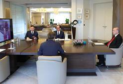 Cumhurbaşkanı Erdoğan, infaz yasasını video konferans ile görüştü