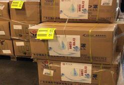 Son dakika | Corona virüs yardımı Çin, 44 koli medikal malzemeyi Türkiyeye gönderdi