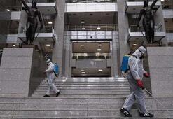 İstanbul Adalet Sarayında corona virüs önlemleri...