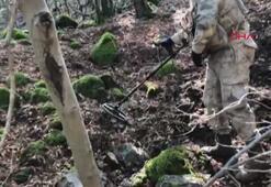 Amanoslarda PKKlıların kullandığı sığınak bulundu