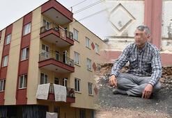 Eşi eve almayınca, gizlice içeri girip, kendisini balkona kilitledi