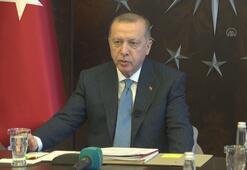 Cumhurbaşkanı Erdoğan G20ye video konferans yöntemiyle katıldı