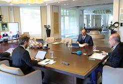 Son dakika... Cumhurbaşkanı Erdoğan kabine üyeleriyle video konferanslı görüştü