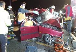 Aydında feci kaza: 1 ölü, 2 yaralı