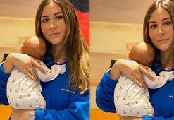 Selma Çilek, bebeğinin fotoğrafını ilk kez paylaştı
