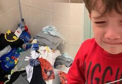 Rektör paylaştı 4 yaşındaki oğlundan virüs tedbiri