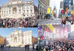 Virüsün esir aldığı en turistik şehirler