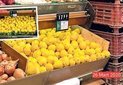 Limon kalkan oldu fiyat 18 lirayı gördü
