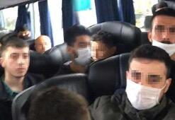 Otobüsteki 46 kişiye 3 bin 150şer lira ceza
