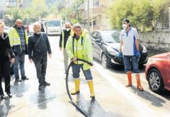 Balçova'da sokak sokak temizlik...
