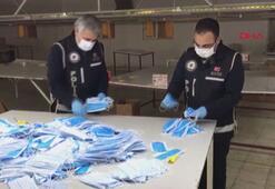 Adıyamanda kaçak üretilen 5 bin maske ele geçirildi