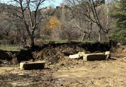 Çiftçinin tarlasından Roma dönemine ait kaya eserler çıktı