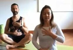 Antalyasporlu futbolcular telekonferanslı yoga yaptı