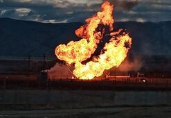 Ağrı - Gürbulak Sınır Kapısında doğal gaz boru hattında patlama