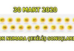 On Numara çekiliş sonuçları 30 Mart 2020 Pazartesi...