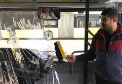 İstanbulda Özel Halk Otobüslerinde corona virüs önlemi