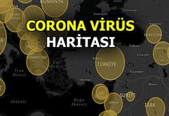 Corona virüs (covid-19) Dünya haritası   Corona virüsten kaç kişi öldü, kaç kişi iyileşti, vaka sayısı kaç