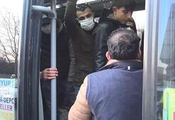 Son dakika haberler: Corona virüs salgınıyla mücadele kapsamında fazla yolcu alan minibüsçüye ceza kesildi