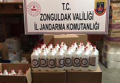 Zonguldakta sahte dezenfektan operasyonu Gözaltına alınanlar var