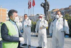 Bayraklı'da virüs savaşçıları sahada