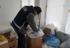Bursada kaçak maske ve dezenfektan operasyonu