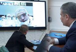 Sağlık Bakanı Koca, Kovid-19 mesaisindeki hekimler ve sağlık çalışanlarıyla görüştü