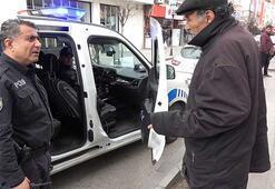 """86 yaşındaki vatandaş: """"Araba benzin yakıyor devlete zarar vermeyelim"""""""