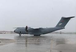 Sağlık malzemelerini taşıyan TSKya ait uçak İspanyaya iniş yaptı