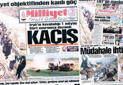 Yüz binlerce Iraklı Türkiye sınırında
