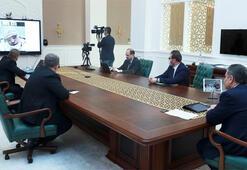 Son dakika Sağlık Bakanı Koca, corona virüs hastalarını tedavi eden hekimlerle görüştü